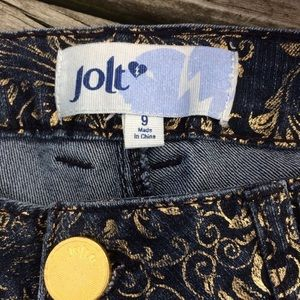Jolt Jeans - Jolt Gold Embossed Denim Jeans